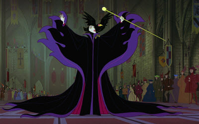maleficent casts curse on princess aurora in 1959 animated Disney movie Sleeping Beauty
