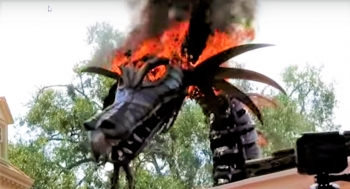 prophetic event maleficent dragons burns at magic kingdom parade on may 11